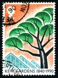 Selo postal do Reino Unido dos jardins de Kew Fotografia de Stock Royalty Free