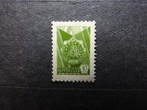 Selo postal do vintage do russo desde 1976 fotos de stock royalty free