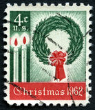 Selo postal dos E.U. do Natal 1962 Imagens de Stock