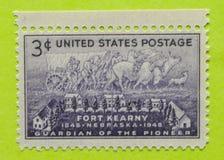 Selo postal dos EUA do vintage fotografia de stock