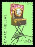 Selo postal - Grécia fotografia de stock