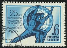selo postal impresso por Rússia Fotos de Stock Royalty Free