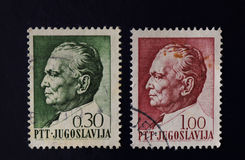 Selo postal Josip Broz Tito Imagens de Stock Royalty Free
