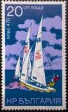 Selo postal 1973 sailing bulg?ria imagens de stock royalty free