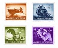Selo postal: tipos das tropas do Wehrmacht Imagens de Stock