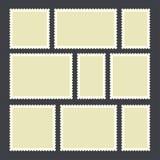 Selo postal vazio foto de stock