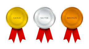 Selo premiado com fitas Fotos de Stock Royalty Free