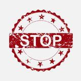 Selo redondo do ícone do vetor Parada envelhecida da inscrição do grunge ilustração royalty free