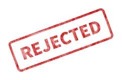 Selo rejeitado - selo vermelho do Grunge ilustração do vetor