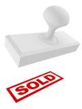 Selo retangular do escritório vendido isolado no branco Fotografia de Stock