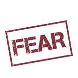 Selo retangular do medo ilustração royalty free
