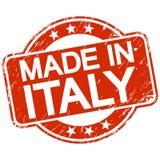 selo riscado vermelho feito em Itália ilustração stock