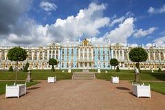 selo ST της Πετρούπολης Ρωσία παλατιών της Catherine tsarskoe θερινή όψη τοπίων peacock Το Tsarskoye Selo είναι κρατική μουσείο-κ Στοκ εικόνα με δικαίωμα ελεύθερης χρήσης