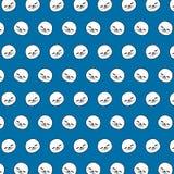 Selo - teste padrão 24 do emoji ilustração royalty free