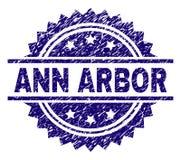 Selo Textured riscado do selo de ANN ARBOR ilustração do vetor