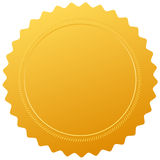 Selo vazio do certificado Imagens de Stock