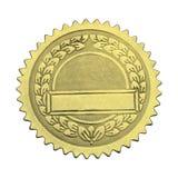 Selo vazio do graduado do ouro foto de stock