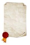 Selo velho do papel e da cera Imagem de Stock Royalty Free