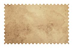 Selo velho do papel do porte postal da placa do grunge no branco Imagem de Stock Royalty Free