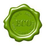 Selo verde da cera ilustração royalty free