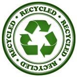 Selo verde recicl Foto de Stock