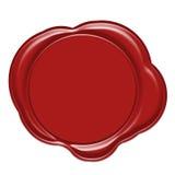 Selo vermelho da cera Imagens de Stock