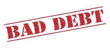 Selo vermelho da dívida perdida ilustração royalty free