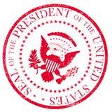 Selo vermelho da tinta de Ruber do selo de Presedent ilustração stock
