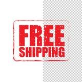 Selo vermelho do grunge livre do transporte Fotografia de Stock