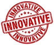selo vermelho inovativo ilustração stock