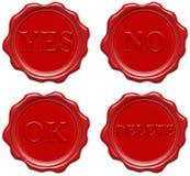 Selo vermelho realístico da cera com texto Imagens de Stock