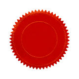 Selo vermelho redondo Imagens de Stock Royalty Free