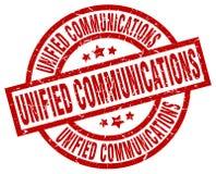 Selo vermelho redondo unificado das comunicações ilustração do vetor