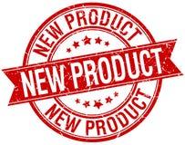 Selo vermelho retro da fita do grunge do produto novo Fotografia de Stock Royalty Free