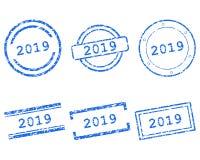 2019 selos ilustração royalty free