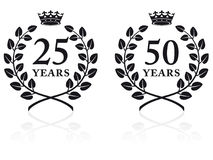 Selos 2 do aniversário Foto de Stock Royalty Free