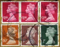 Selos BRITÂNICOS Foto de Stock Royalty Free