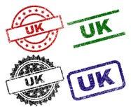 Selos BRITÂNICOS Textured riscados do selo ilustração stock
