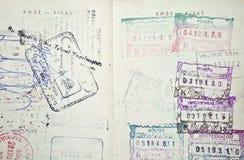 Selos coloridos do passaporte imagem de stock