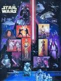 2007 selos comemorativos dos E.U. Star Wars foto de stock