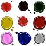 selos da cera da cor Fotografia de Stock