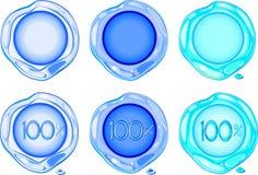 Selos da cera dos azuis celestes Imagens de Stock Royalty Free