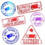 Selos da entrega expressa ilustração do vetor