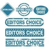 Selos da escolha dos editores ilustração stock