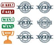 Selos da falha e da vitória ilustração stock