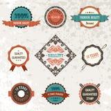Selos da fita dos elementos da decoração do vintage do vetor Foto de Stock Royalty Free