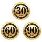 Selos da garantia da parte traseira do dinheiro ilustração royalty free