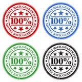 Selos da garantia da parte traseira do dinheiro Fotografia de Stock