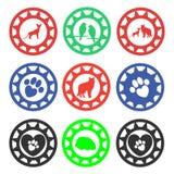 Selos da loja de animais de estimação Imagens de Stock Royalty Free