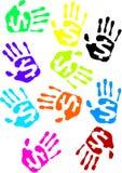 Selos da mão. Ilustração do Vetor